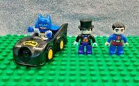 Lego Duplo DC Bundle Batman & Batmobile, Superman & Penguin **Free UK Delivery**