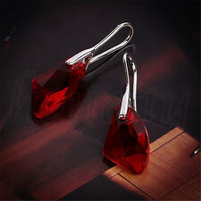Women Lady Geometric Shape Crystal Stone Long Dangle Earrings Jewelry Earrings