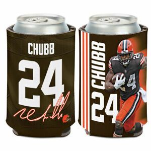 NICK CHUBB CLEVELAND BROWNS SOFT FOAM CAN BOTTLE COOZIE COOLER KOOZIE NFL