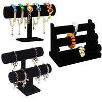1pc Velvet Bracelet Holder 3 Tier Simple Bangle Stand for Jewelry Organization