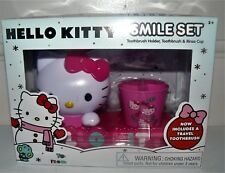New Hello Kitty Smile Set Toothbrush Holder Toothbrush & Rinse Cup CUTE GIFT