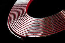 1 Metri Cromo Auto Styling Stampaggio Trim Striscia Adesivo 6mm di larghezza x profondità 2mm