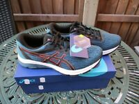 Mens Asics GT-800 Premium trainers Running Shoes Gym Fitness Blue UK 8 BNIB