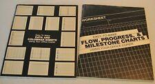 Lot 2 Vintage Easy To Makeoffice Copierflow Progress Chartdata Columnar Sheet