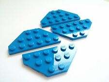 x4 New Lego Blue wedge plate 3x6 cut corners