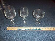 Set of 6 Platinum rimmed Claudia Crystal Stemmed Wine or Champagne Glasses