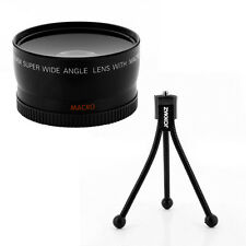 58mm 0.45x Wide Angle Lens + Macro + tripod for Canon Vixia HF S10 Camcorder,NEW