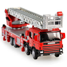 Ladder Fire Truck Construction Vehicle Cars Model Toy 1:50 Scale Diecast in box
