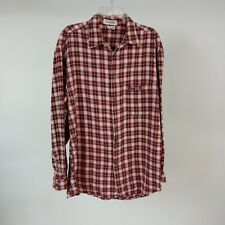 ba8885659d67 Guess USA L Red Plaid Flannel Shirt VTG Made in USA L/S Button Front