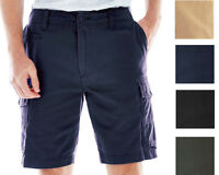 New Arizona Jean Co Men's Twill Flat-Front Cargo Shorts Assorted Colors Orig $38