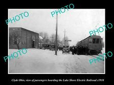 OLD LARGE HISTORIC PHOTO OF CLYDE OHIO, THE LAKE SHORE ELECTRIC RAILROAD c1910