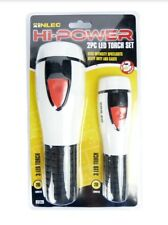 2pc LED Torch Flashlight Set High Power for DIY, Camping, Hiking