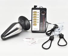 Electro Shock E-Stim Pulse XL Torpedo Plug Nipple Clamp Clip Therapy Sets Device