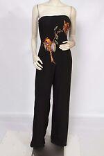 ALEXANDER McQUEEN for GIVENCHY Vintage RARE Black Bird Jumpsuit 1998 Sz 42 US 8