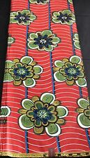 Colourful African Wax Print Fabric (Ankara)for Cotton, Dress.(sold Per Yard)
