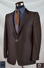 Wow! 1970's Solid Brown Statement Jacket with Double Vent (Size 40R) By Phoenix