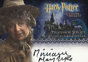 Harry Potter Chamber of Secrets CoS Miriam Margolyes as Prof. Sprout Auto Card