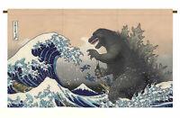 Godzilla Ukiyoe Noren Japanese Curtain Doorway Home Decor Made in Japan Limited