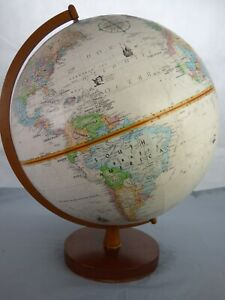 """Globemaster 12"""" Vintage Globe World Classic Relief Geographical Learning Raised"""