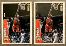 1996 Michael Jordan 2 Card Lot. Base (#23) And Team Set Parallel (#CH3)