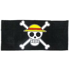 One Piece Smooth Cotton Blanket Straw Hat Pirates Skull Flag Design Japan Anime