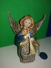 2003 Christmas Angel Playing Musical Instrument By Roman Inc.