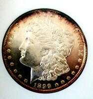 Morgan Silver Dollar 1899 NGC MS 63 PL Old Fatty Holder Under Grade Monster