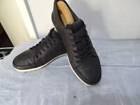 MENS ALDO  Black Leather Lace-Up Shoes Size UK 8