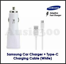 Genuine SAMSUNG 15W Fast Car Charger+Cable for Galaxy S6 Edge+, NOTE 4/5 - Black