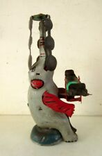 Vintage Old Collectible Elephant Playing See - Saw Litho Wind Up Tin Toy Japan?