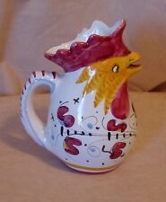 Rooster Pitcher - hand painted - unknown maker - has small chip