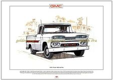 GMC Modèle 1000 Demi-tonne Imprimé Beaux-arts A3 taille General Motors