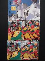 GREECE 3 GREEK PHONECARDS WITH THEMA CARNIVAL IN PATRAS & IN XANTHI GRECIA !!!!