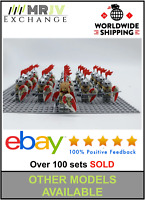 21 Minifigures Medieval Knights Red Lion Castle Kindoms Toys LE-GO Compatible UK