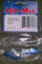 Heli-Max Blue Aluminum Blade Grip Axe EZ Helicopter HMXE7460 New