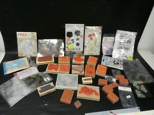 (ref288CN) Job lot of craft printing blocks and stamps