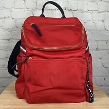 Tommy Hilfiger Annada Nylon Backpack Red w/ Navy Blue Trim $148 MSRP