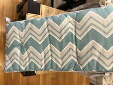 Pottery Barn crib bumper and fitted sheet blue, gray and white chevron pattern