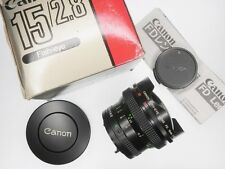 Canon FD 15mm f2.8 Fish-Eye  #17395 ............ MINT w/Box,I.B.,Caps
