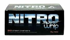 50 Nitro Whip Cream Charger whipped 8g N 8 gram pure standard size  1 box of 50
