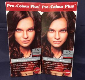 2 Pro Colour Plus Vegan Friendly Deep Reddish Brown Permanent Hair Colour Dye