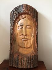 Wood Carving Ornament Of Jesus / Christmas Display Free P&P