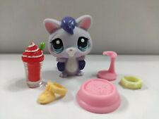 """2"""" Littlest Pet Shop LPS Purple Flying Rat Blue Eyes with 5pcs accessories"""