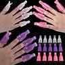 EE_ 10x Popular Plastic Nail Art Soak Off Clip Cap UV Gel Polish Remover Wrap To