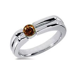 Herren Diamant Brillant Ring 0,50 ct. cognac Solitär Diamant 585 oder 750 Gold