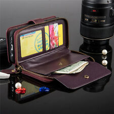 For Samsung Galaxy S7 Edge Note5 Leather Wallet Card Holder Flip Dual