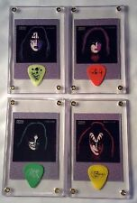 KISS Complete Set of all 4 Solo Lp card / guitar pick display - Great Gift!!!