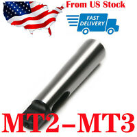MT2 to MT3 steel Morse Taper Reduction Adapter Drill Sleeve for Lathe Milling
