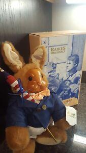 Robert Raikes Wooden Doll Original Uncle Vincent Bunny Rabbit, Mint Condition
