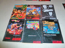 Snes manual lot and Congo's Capers (Super Nintendo Entertainment System, 1993)